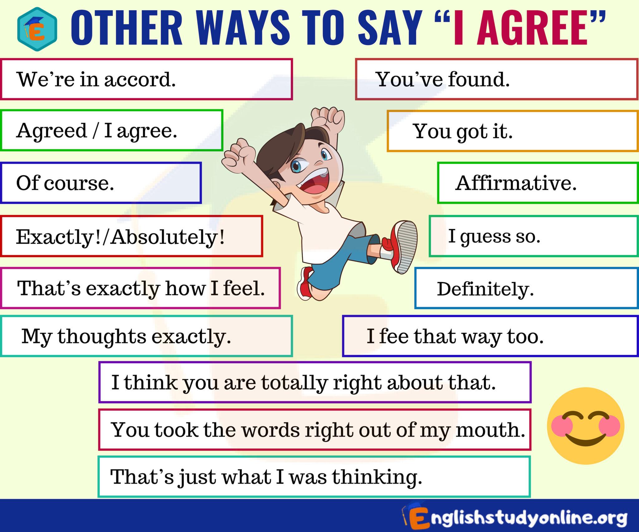 Ways to Say I Agree