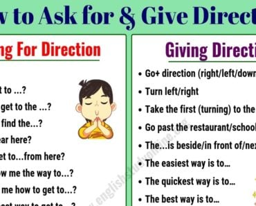 Simple Ways of Asking For and Giving Directions in English 5