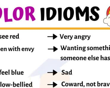 List of Popular Color Idioms with Meaning & Examples in English 7