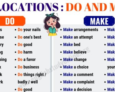 DO vs MAKE | The Difference Between Do and Make in English 3