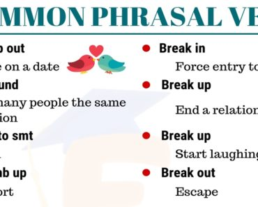 List of 150+ Important Phrasal Verbs You Need to Know 3
