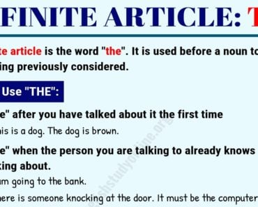 Definite Article THE | Useful Rules & Examples in English 1