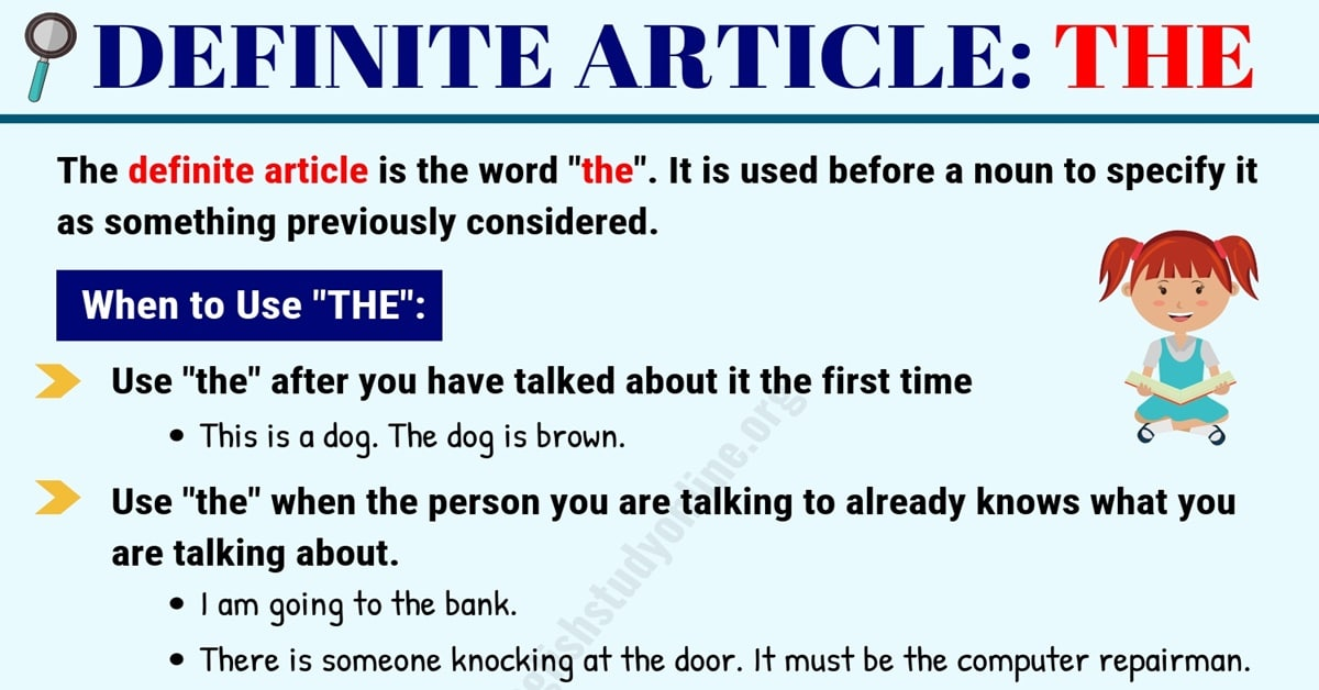 Definite Article THE | Useful Rules & Examples in English 5