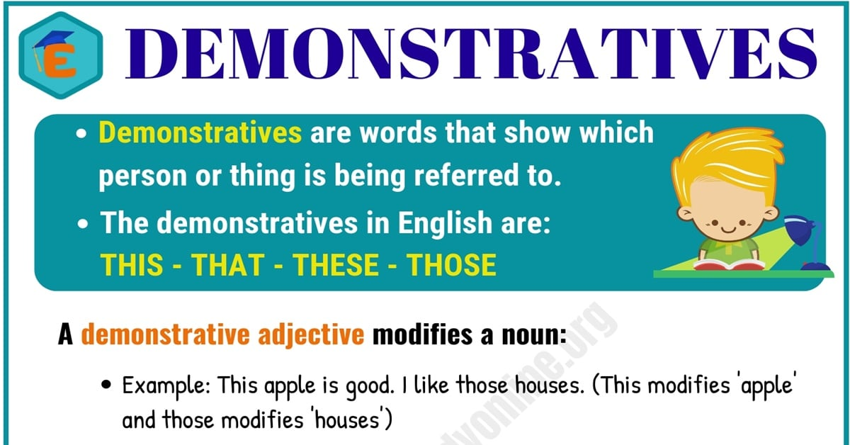 Demonstratives Adjectives & Pronouns - This, That, These, Those 1