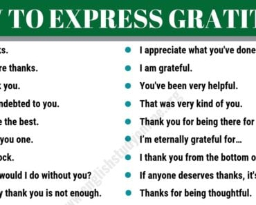 35+Useful Ways to Express Gratitude for ESL Learners 5