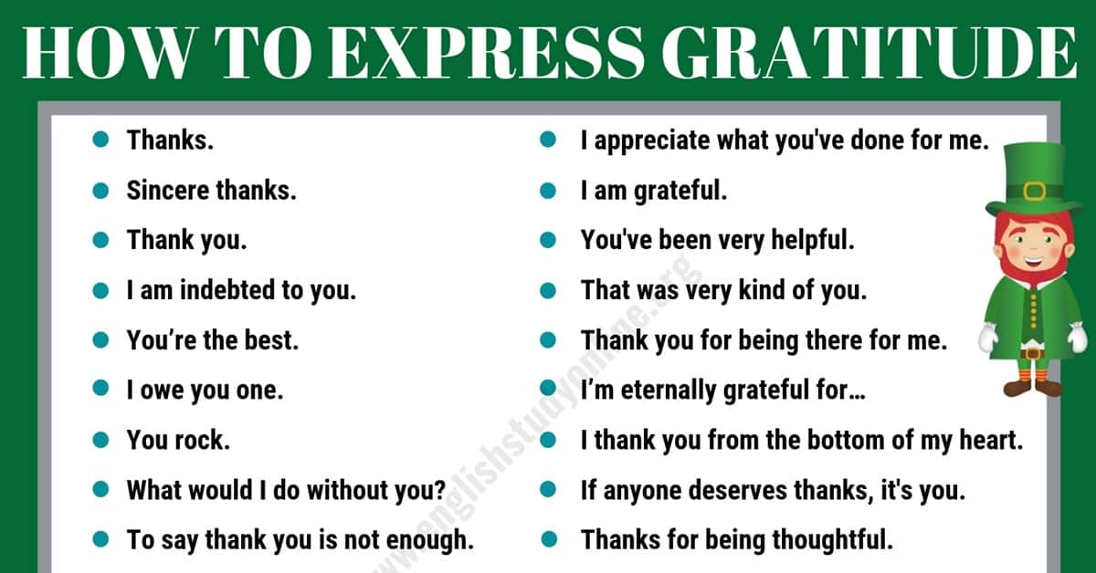 35+Useful Ways to Express Gratitude for ESL Learners 8