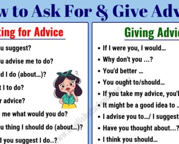Simple Ways to Ask for & Give Advice in English | Ask For Advice 7
