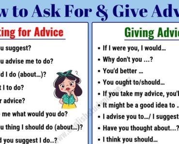 Simple Ways to Ask for & Give Advice in English | Ask For Advice 8