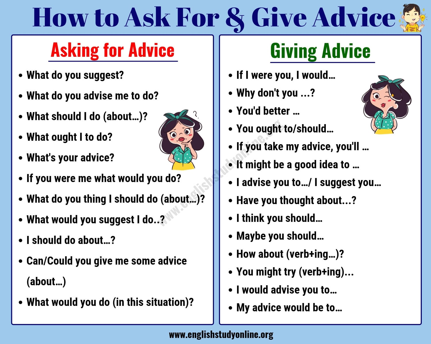 ask for advice