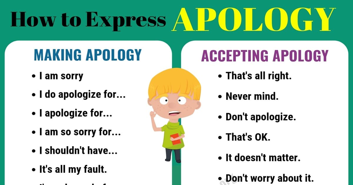 How to Accept An Apology in English 1