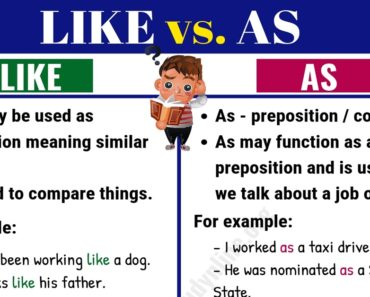 Like vs As: What is Difference between LIKE vs. AS? 5