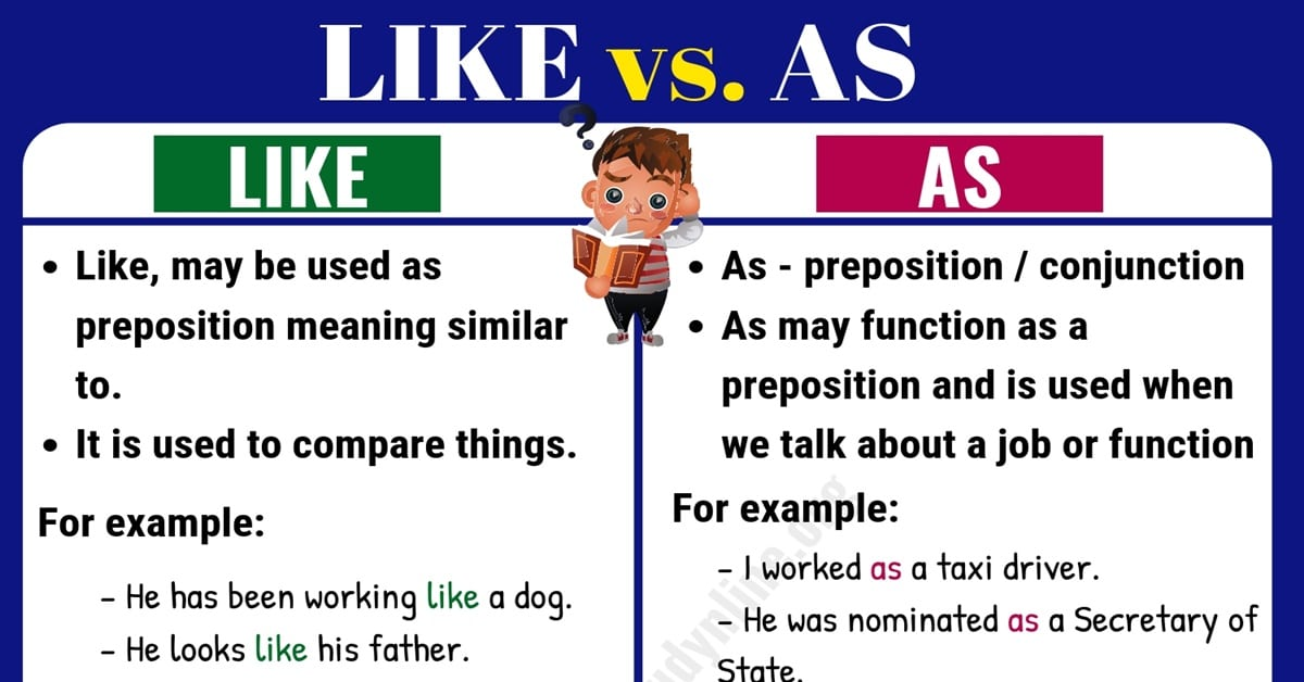 Like vs As: What is Difference between LIKE vs. AS? 10