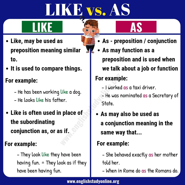 like vs as