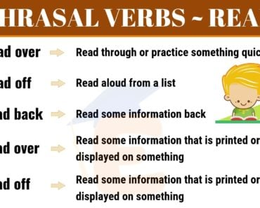 7 Important Phrasal Verbs with READ: Read over, Read off, Read back... 2