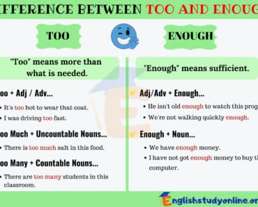 Too and Enough | English Grammar Lesson 3