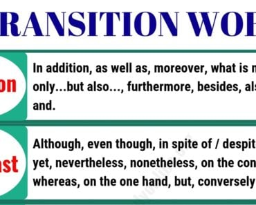 100+ Important Transition Words and Phrases with Examples 6