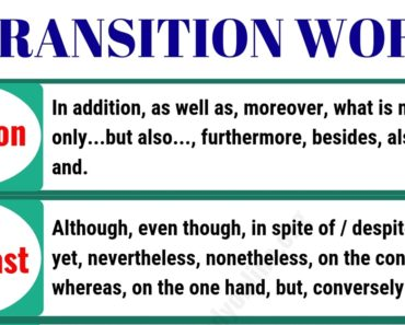 100+ Important Transition Words and Phrases with Examples 3