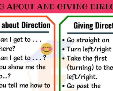 Asking For and Giving Directions in English 3