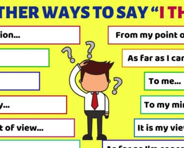 Other Ways to Say I THINK for ESL Learners 5