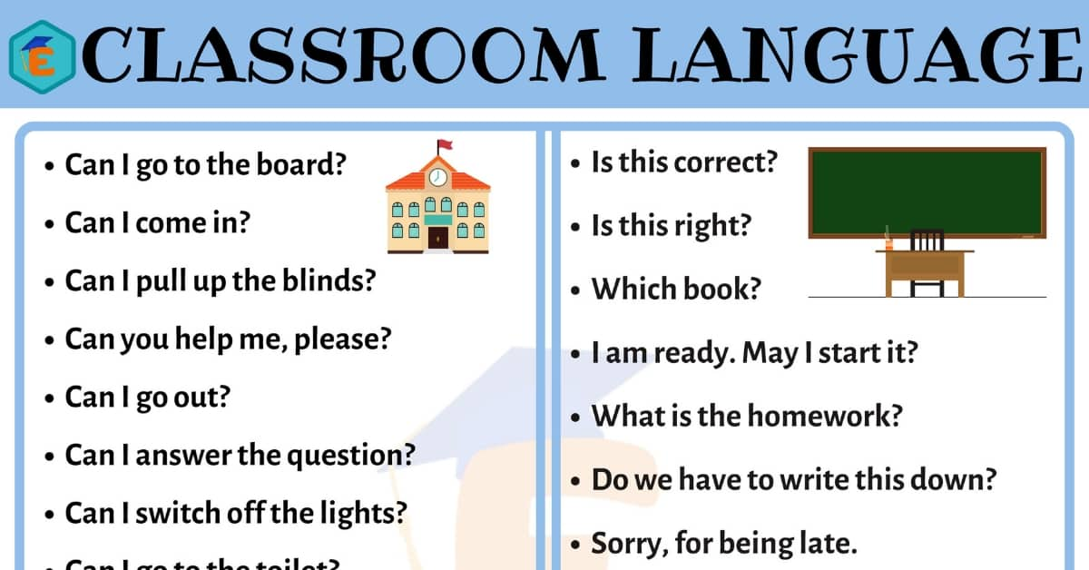Popular Classroom Language for ESL Students in English 9