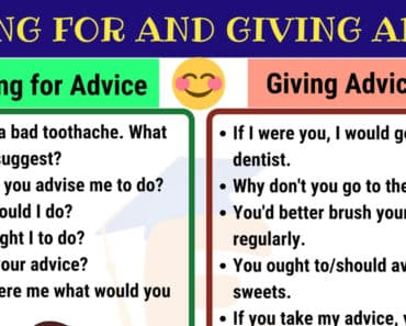 How to Ask for Advice & Give Advice in English 1