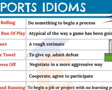 Sports Idioms | Top 10 Most Popular Sports Idioms in English 7