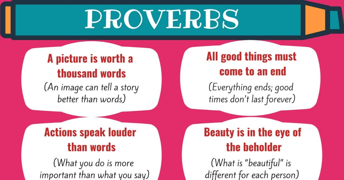 Most Common Proverbs in English with Meanings 1