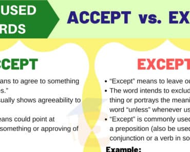Accept vs Except - Commonly Misused Words in English 4