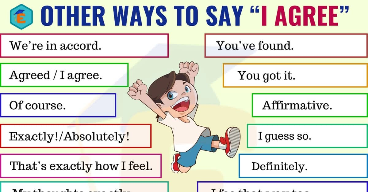 Different Ways to Say I Agree in English 1