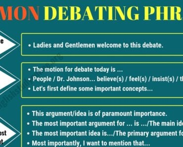 Useful Expressions for Debate and Discussion in English 7