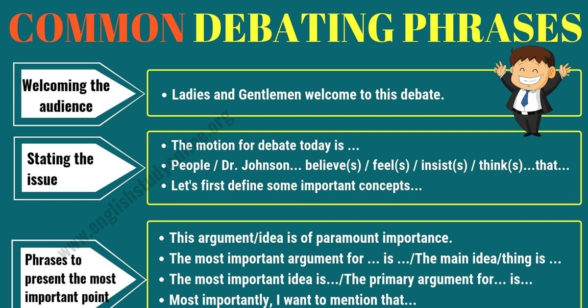 Useful Expressions for Debate and Discussion in English 1