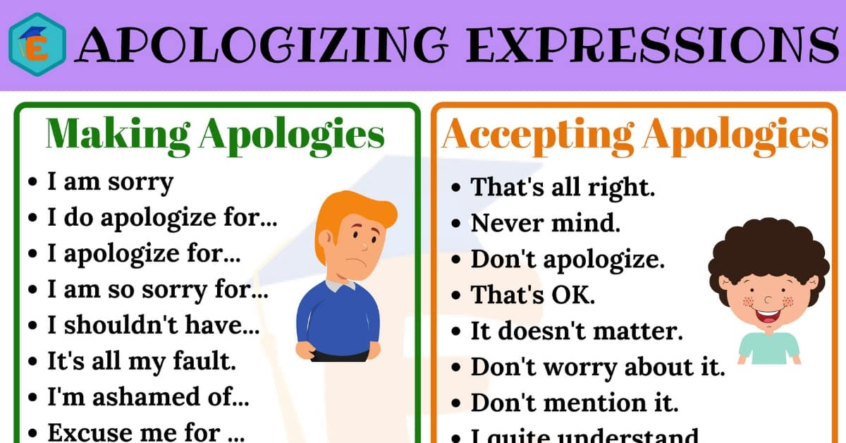 how to accept an apology in english