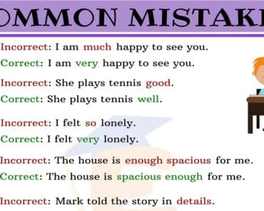 Common Mistakes in English for ESL Learners 4