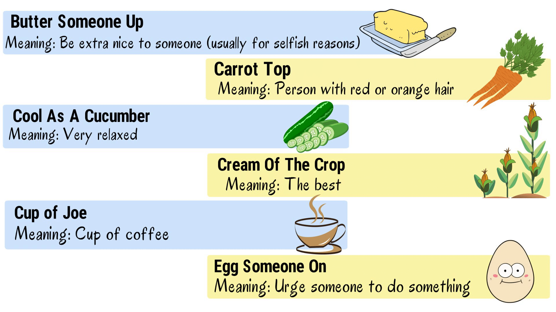 35 Popular Food Idioms with Meaning for ESL Learners 4