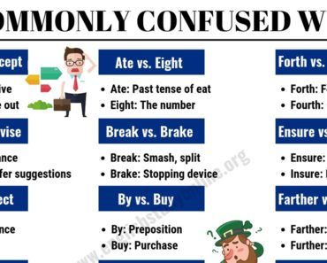 30 Commonly Confused Words in English for ESL Learners 6