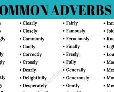 "Adverbs List | List of 95+ Important Adverbs with ""Ly"" 3"