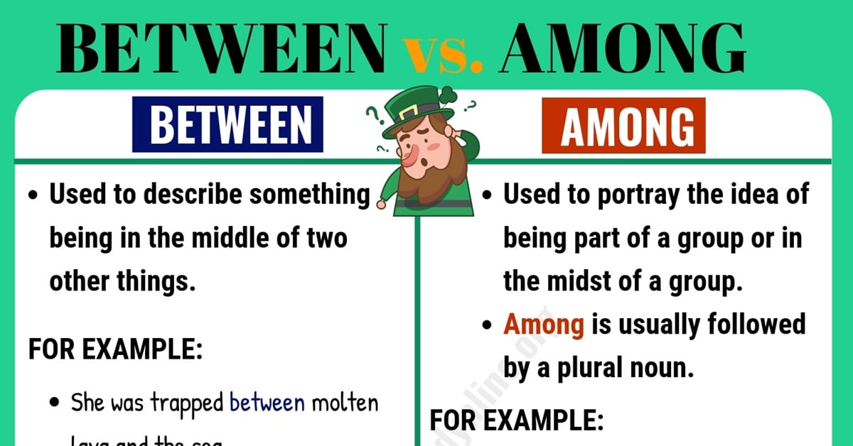 Between vs Among : What's the Difference? 1