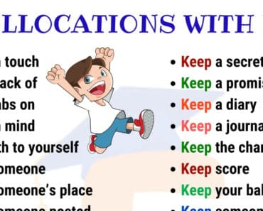 Useful Collocations with KEEP | English Vocabulary 2
