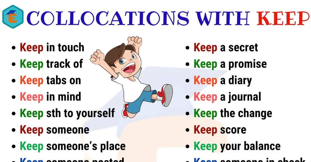 Useful Collocations with KEEP | English Vocabulary 1