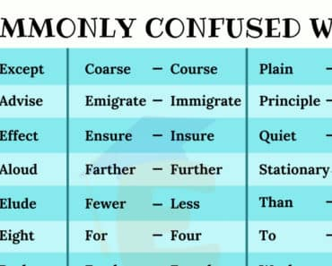 List of Commonly Confused Words in English 6
