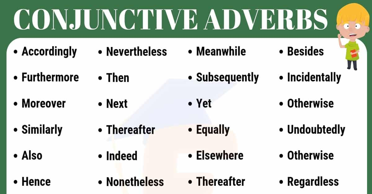 Conjunctive Adverbs List | English Grammar Rules & Usage 5