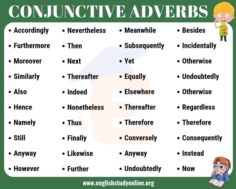 Conjunctive Adverbs
