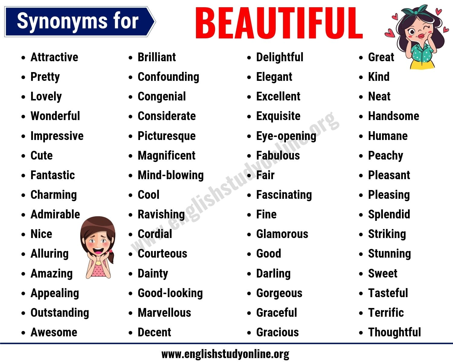 Beautiful Synonyms