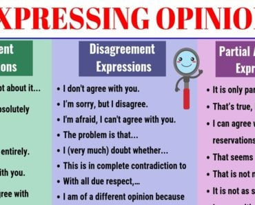 Expressing Opinions: Agreement, Partial and Disagreement Expressions in English 4