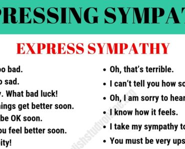 How to Express Sympathy in English 6