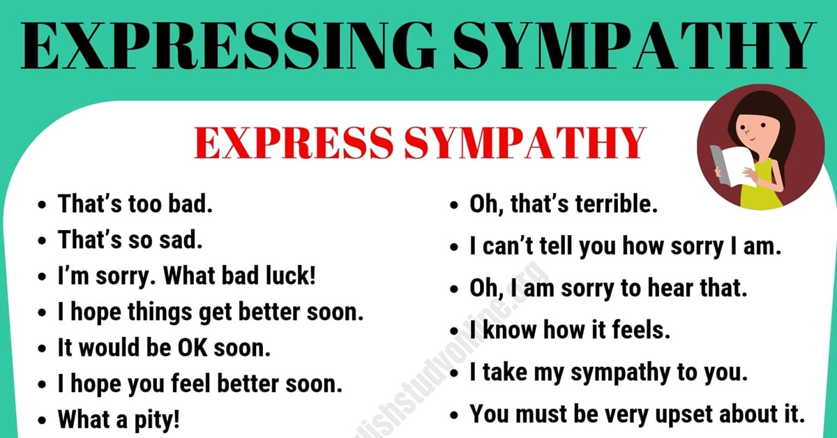 How to Express Sympathy in English 1