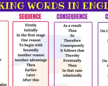 Useful Linking Words for Writing Essay in English 6