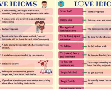 Love Idioms: 30 Popular Idioms about Love in English 3