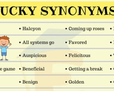 Lucky Synonym | List of 35+ Useful Lucky Synonyms in English 7
