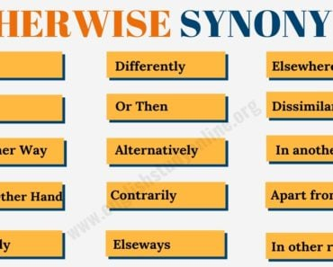 OTHERWISE Synonym | 15+ Useful Otherwise Synonyms in English 3